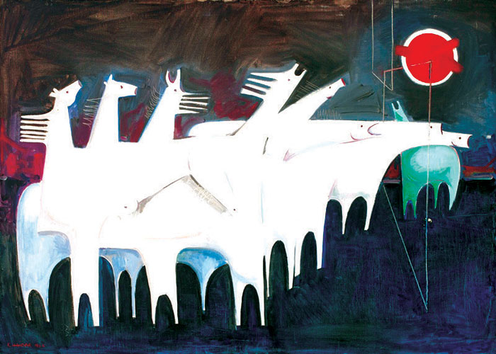 Kadhim Hayder's Fatigued White Horses Converse With Nothing