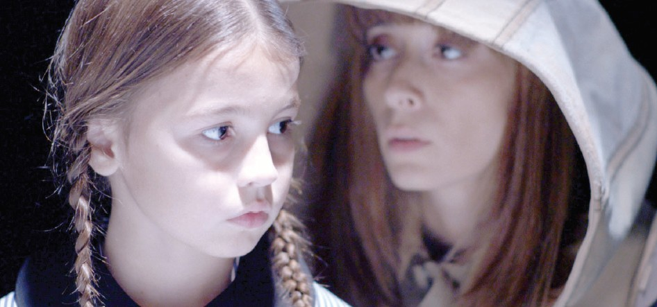 The resistance leader and her sister in Larissa Sansour's film In the Future They Ate from the Finest Porcelain.