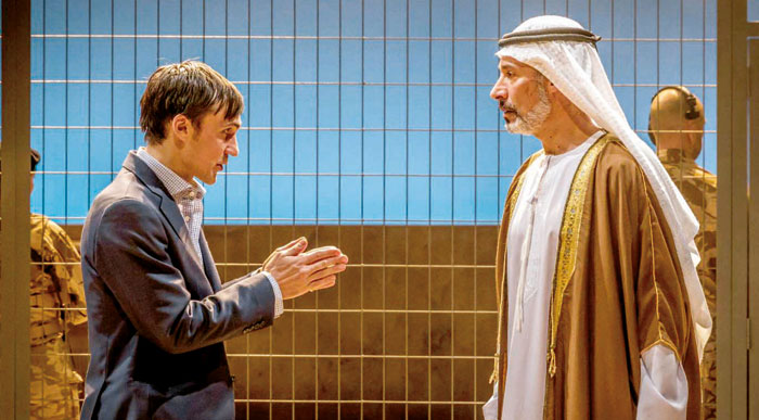 Scene from 'Occupational Hazards' in which Rory Stewart tries to reason with Karim