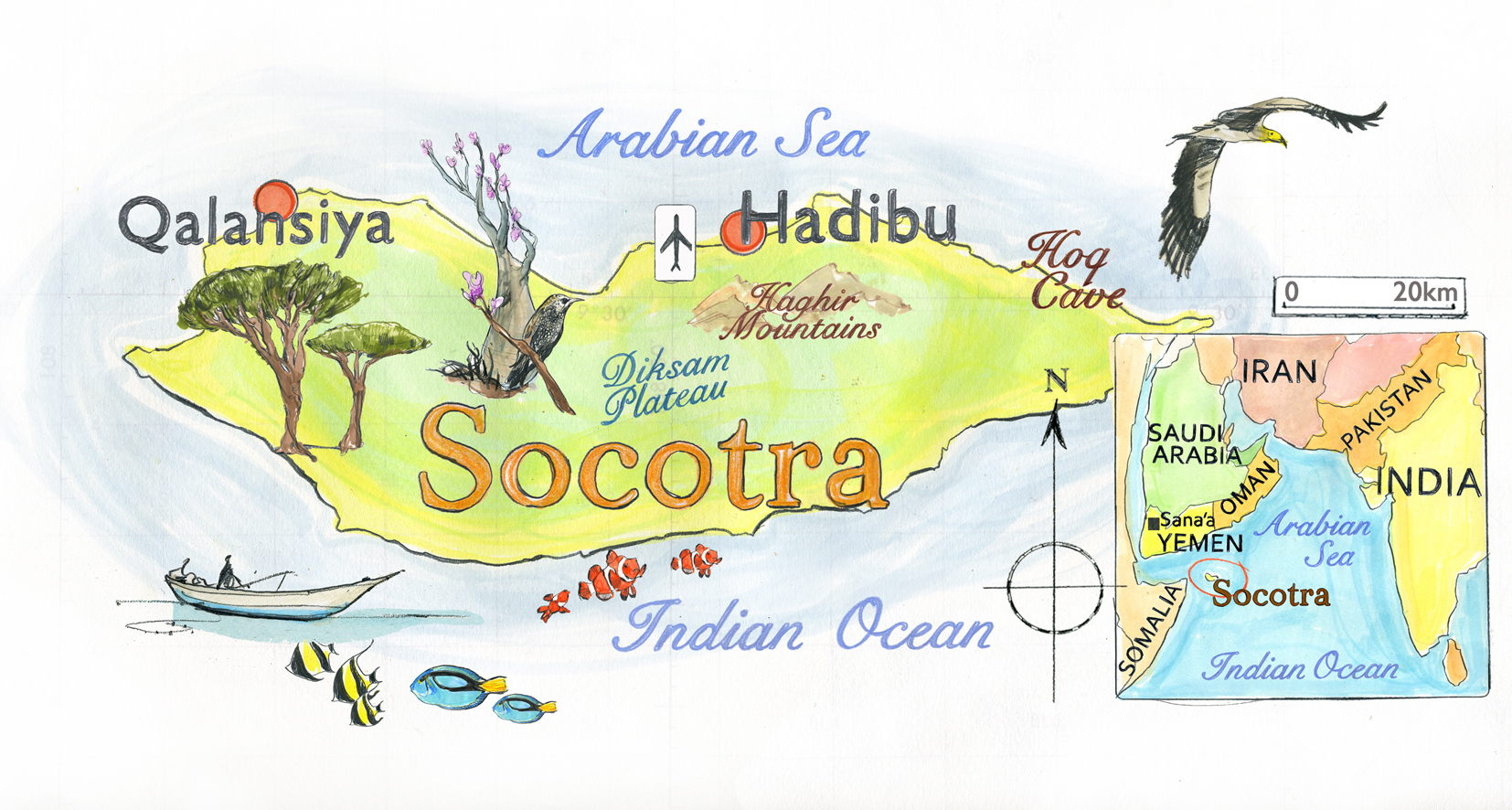 Map of Socotra